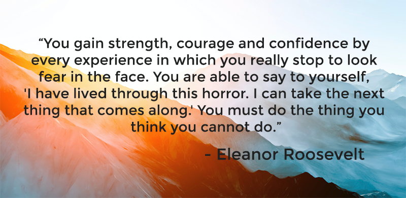 Eleanor Roosevelt quote about strength and overcoming
